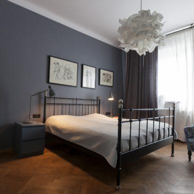 Nowoczesna sypialnia w stylu glamour
